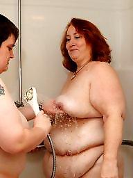 Bbw lesbian, Shower, Shy, Lesbian bbw, Bbw lesbians