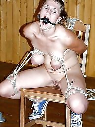 Tied, Bound, Women, Flashing tits