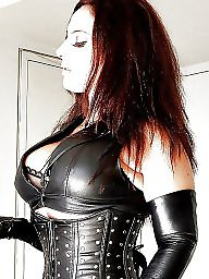 Boots, Latex, Leather, Femdom milf, Milf leather