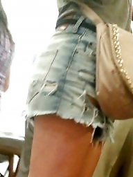 Jeans, Hidden, Shorts, Spy, Girl, Short