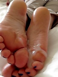 Sperm, Feet, Stockings, Footjob, Teen feet, Teen stockings