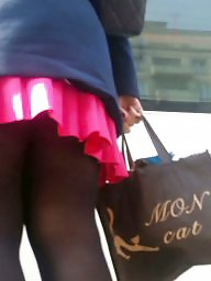 Nylon, Skirt, Mini skirt, Nylons, Romanian, Teen skirt