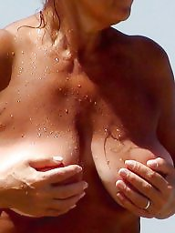 Mature beach, Big mature, Beach mature, Big boobs mature