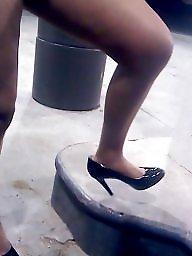 Upskirt, Candid, Upskirt milf, High heels, Milf upskirt, High heels milf