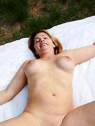 Outside, Big, Posing, Public boobs, Pose