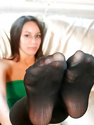 Nylon feet, Nylons, Stocking feet