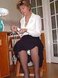 Mature, Uk mature, Mature stockings, Ironing, Stocking mature