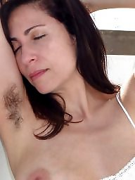 Spreading, Armpit, Spread, Mature spreading, Mature hairy, Hairy milf