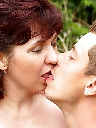 Old granny, Kissing, Boys, Mature boy, Kiss, Milf boy
