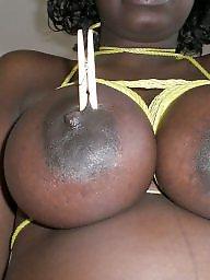 Slave, Black, Tied up, Tied, Slaves, Ebony boobs