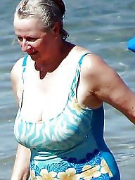 Granny, Grannies, Beach, Sexy mature, Amateur granny, Mature granny