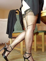 Vintage, Vintage mature, Suit, Mature stocking, Business, Stocking mature