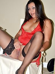 Latin milf, Tights, Red, Milf sex, Toying