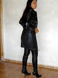 Leather, Latex, Pvc, Boots, Mature boots, Mature pvc