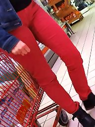 Cameltoe, Butts, Red, Nice