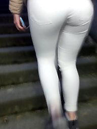 Tights, Cam, White, Pants, Tight ass, Hidden cam