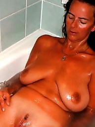 Bathroom, Mature shower, Wife mature, Mature wife