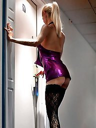 Stockings, Milf stockings, Purple