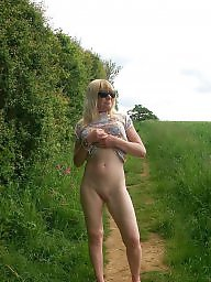 Mature blonde, Mature pussy, Outside, Blonde mature, Mature public, Wife mature