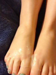 Feet, Sperm, Footjob, Teen feet, Stocking feet