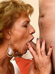 Granny, Grannies, Mature blowjob, Granny blowjob, Suck, Mature granny