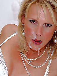 Satin, Facial, Mature facial, Mature stocking, Facials, Night