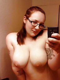 Glasses, Topless, Amateur big tits