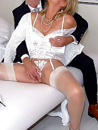 Satin, Mature facial, Mature in stockings, Stockings mature, Night, Mature facials