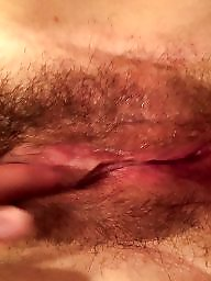 Hairy, Clit, Big pussy, Big clit, Hairy pussy, Finger