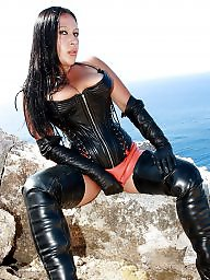 Latex, Boots, Leather