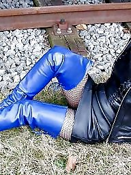 Pvc, Leather, Latex, Boots, Mature leather, Mature boots