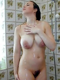 Bathroom, Shower, Mature shower, Milf mature