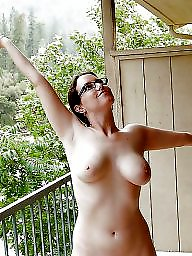 Mature tits, Outside, Mature flashing, Mature big tits, Mature boobs, Mature flash