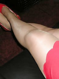 Heels, Skirt, Tight, Tights, Red, Girlfriends