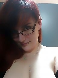 Nerdy, Girl, Bbw big tits