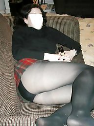 Pantyhose, Wife, Skirt, Pantyhose upskirt, Short, Milf pantyhose