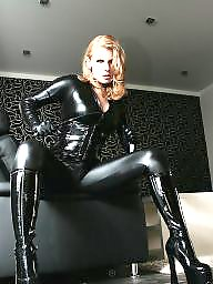 Boots, Leather, Blonde, Gloves, Catsuit, Bdsm