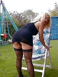 Sexy mature, Stocking mature, Sexy stockings, Milf stockings, Garden