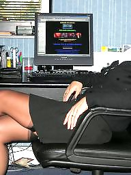 Office, Upskirt milf, Milf stockings, Officer, Milf upskirt