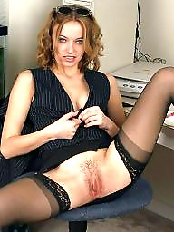 Office, Lady, Upskirt hairy, Hairy upskirt, Upskirt stockings, Hairy stockings