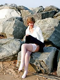 Uk mature, Mature beach, Stockings mature, Beach mature, Beach amateur