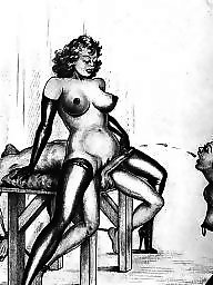 Drawing, Drawings, Draw, Vintage cartoons, Vintage cartoon, Erotic