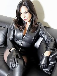 Leather, Upskirt, Skirt, Lady, Tights, Leather skirt