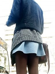 Skirt, Mini skirt, Nylons, Romanian, Spy, Teen nylon