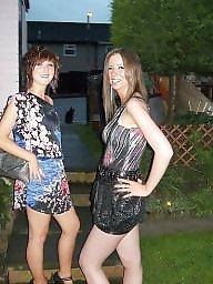 Upskirt, British, British teen, Caroline, Teen upskirt, British teens