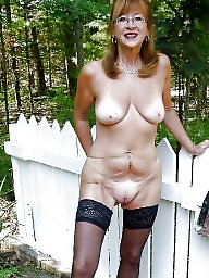 Granny, Granny stockings, Granny boobs, Mature boobs, Mature outdoor, Granny stocking