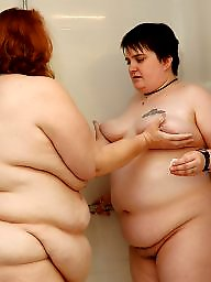 Shy, Shower, Bbw lesbian, Showers, Lesbian bbw
