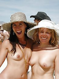 Mature beach, Natural, Nature, Mature tits
