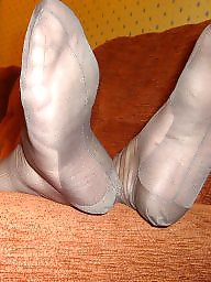 Nylons, Foot, Mature nylon, Nylon stockings, Foot job