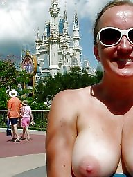 Topless, Glasses, Glass, Big tits